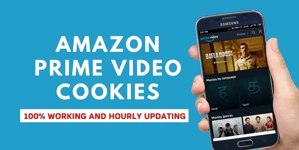 100% Working Latest & Updated Hourly Amazon Prime Cookies