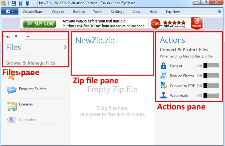 How do you Encrypt Files in a Zip file