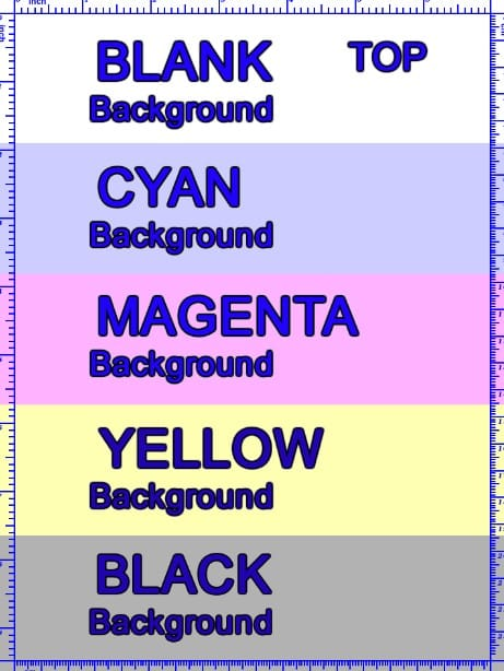 Print Online Color or Black & White Test Pages