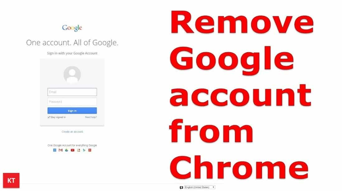 Remove Gmail Account from From Chrome