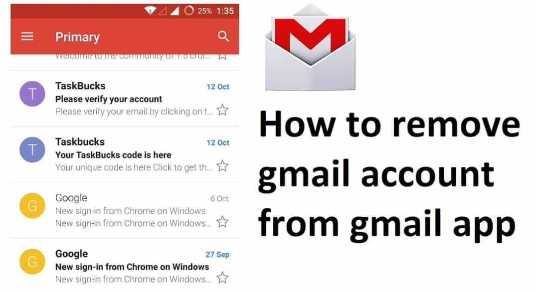 Remove Gmail Account from my Gmail Login