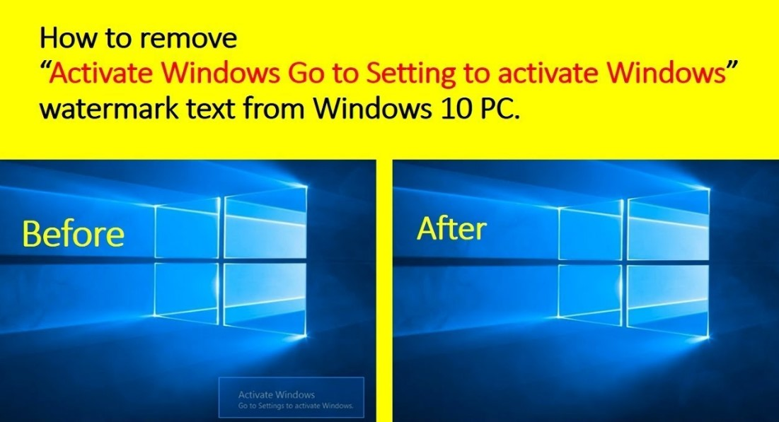 Remove the Activate Windows 10 Watermark
