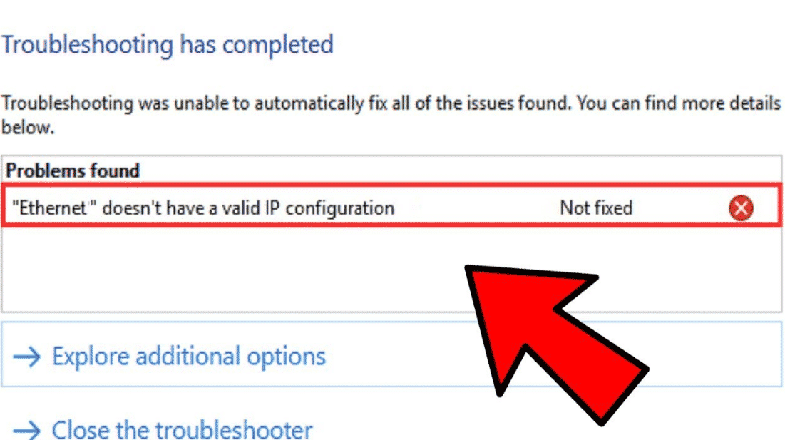 How to Fix Ethernet Doesn't have a Valid IP Configuration Error 2020